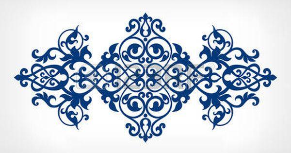 Vintage Baroque Damask Design Frame Pattern Element Engraving Calligraphy Borders Vintage Ornaments Stencil Designs