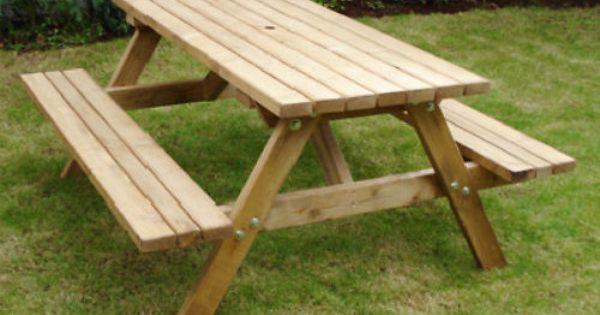 Heavy Duty Garden Bench Ebay Picnic Table Bench Picnic Table Outdoor Picnic Tables