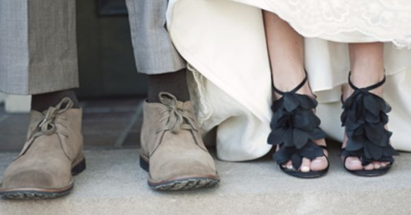 wedding shoes cute picture idea, change it to two women and its