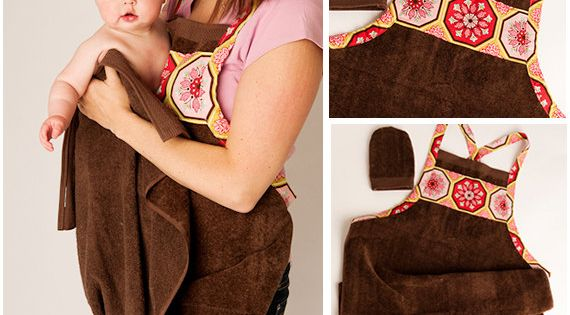 NEW Baby Bath Apron Towel and Mitt PDF Sewing Pattern - By