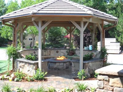 Fire Pit In Gazebo Google Search Gazebo Backyard Gazebo Backyard Playground