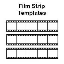 Free Film Strip Templates For Your Photo Collages And Movie Posters Print These Blank Film Strip Templat Film Strip Photo Collage Template Photo Book Template