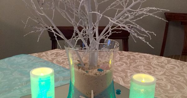 Under the sea centerpiece for prom party ideas