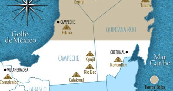 Ubicaci n geogr fica de la cultura maya principales for Cultura maya ubicacion