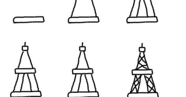 Eiffeltoren Parijs Kleurplaat Eifeltoren Tekenen Met Kleuters Stap Voor Stap Tekenen