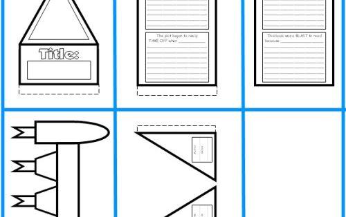 Rocket Book Report Project Templates Worksheets Grading