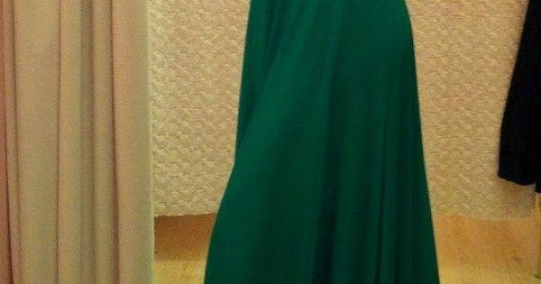 Green Full Sleeves Maxi Dress