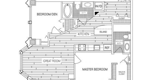 2 Bedroom 2 Bath Floor Plan Of Property Fisher Building City Apartments Fisher Building City