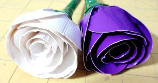 Duck Tape Flower Rose