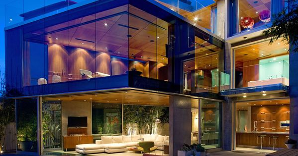 Glass Walls, Lighting, Exquisite Ocean Front Residence in La Jolla, California. Who