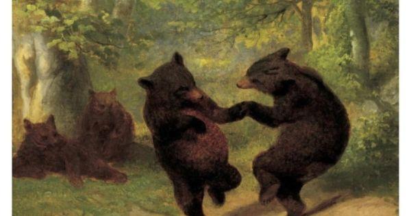 Dancing Bears Print By William Holbrook Beard Bear Paintings