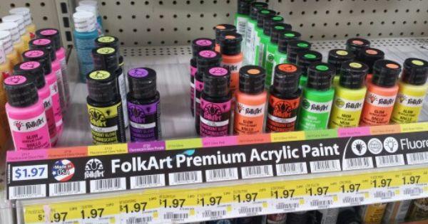 Folkart Black Light Neon And Glow In The Dark Paint Walmart 1 97 Dream Craft Room Craft Room Glow In The Dark