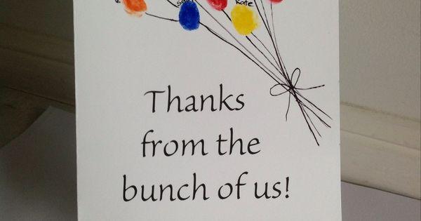 Teacher appreciation card from the class - Gorgeous idea for parent helpers,