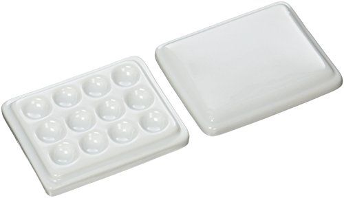 Jack Richeson 12well Porcelain Mini Mixing Tray Palette With Cover Learn More By Visiting The Image Link Arts And Crafts Supplies Coupon Design Craft Area