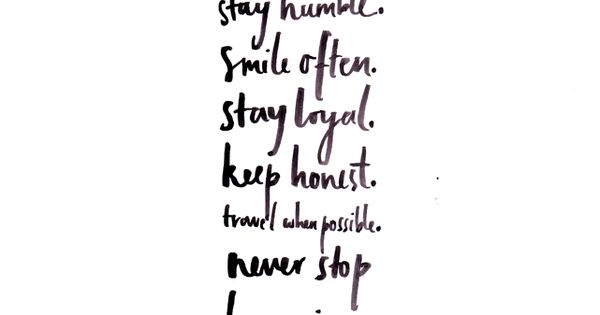 INSPIRATION BLOG INSPIRATIONAL QUOTE BE KIND WORK HARD STAY HUMBLE SMILE OFTEN