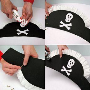 Como hacer un gorro pirata   Chapeu de pirata, Fantasias