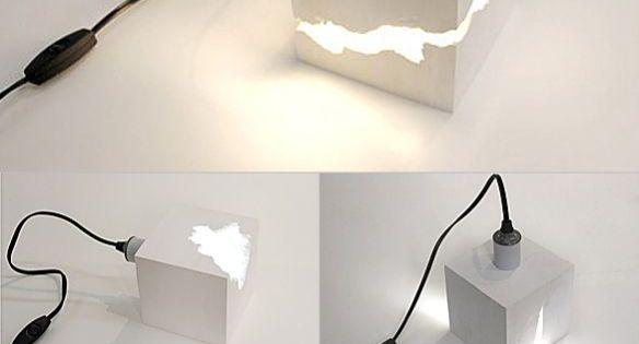 lampe selber basteln diy zementlampe diy home pinterest lampe selber basteln selber. Black Bedroom Furniture Sets. Home Design Ideas