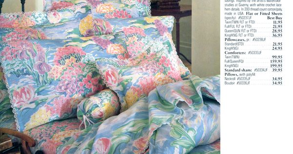 Monet Lilies Bedding Bedding Pinterest Monet