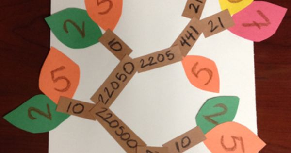 Fall Factor Trees Math Crafts Factor Trees Fall Math