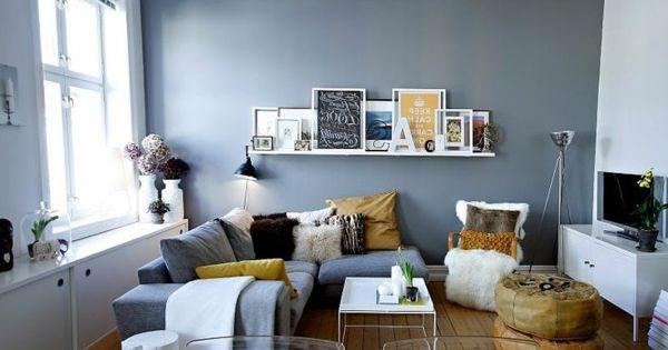 kleines wohnzimmer einrichten ein ecksofa pinteres. Black Bedroom Furniture Sets. Home Design Ideas