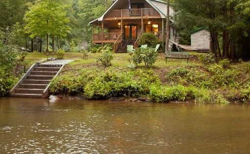 River Mist Log Cabin Blue Ridge Georgia In Blue Ridge