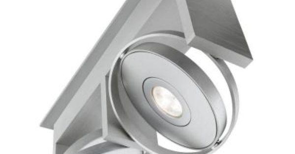 Philips Orbit 2 Light Integrated Semi Flush Brushed Nickel Ceiling Led Track Lighting Fixture 531524848 The Home Depot Led Track Lighting Track Lighting Fixtures Light Fixtures