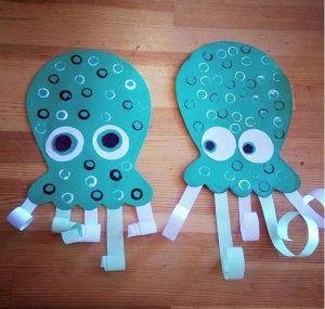 Octopus Craft Ocean Animal Crafts Sea Animal Crafts