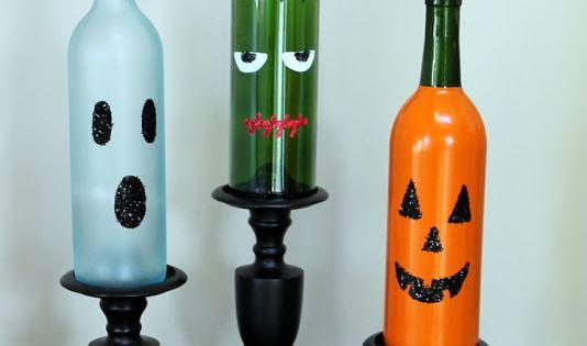 bouteilles vin halloween 10 idées pour réutiliser les bouteilles de vin