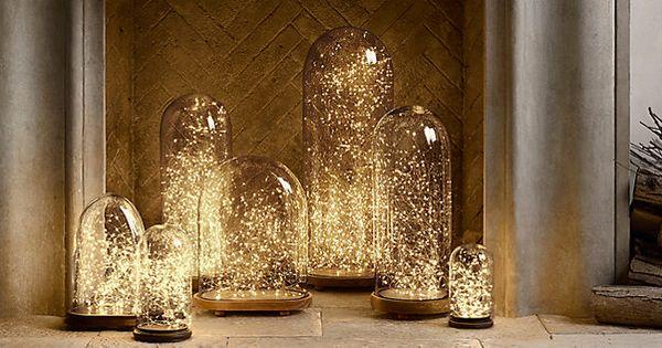 12 cloches de verre pour abriter une d coration fleur de for Decoration en anglais