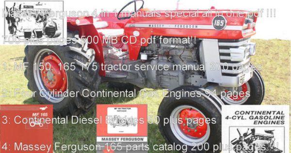 Massey Ferguson 165 Service Instruction Manual Download Massey Ferguson Ferguson Tractors