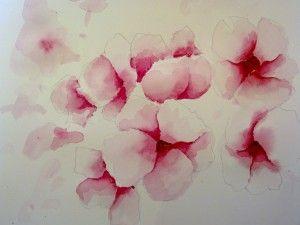 16012012536 Fleurs A L Aquarelle Aquarelle Aquarelle Facile