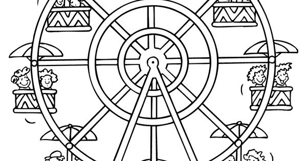 coloring pages of ferris wheel - photo #33