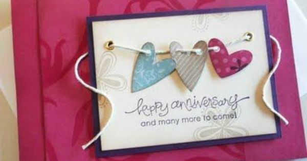 17 Best images about DIY Anniversary Cards – Valentine Anniversary Cards