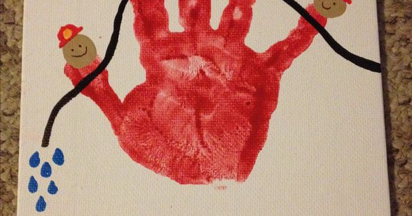 Firefighter Handprint For Daddy My Completed Projects