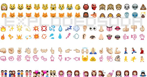iOS to Google Hangout Emoji Comparison - Yay! I'm always ...
