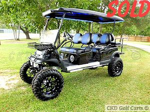 Customized 2014 Club Car Precedent Stretched Limo 6 Passenger Monster Lifted Gas Powered Golf Cart By Ckds Golf Golf Carts Lifted Golf Carts Gas Golf Carts