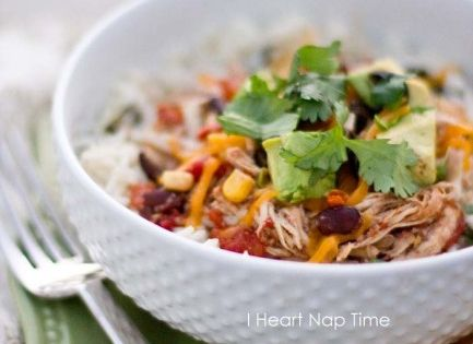 Slow Cooker Chicken Taco Bowls Recipe (I Heart Nap Time)