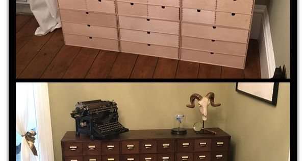 ikea hack before and after apothecary drawers diy m bel pinterest g rten. Black Bedroom Furniture Sets. Home Design Ideas
