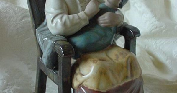 Lladro Figurine Quot Girl In Rocking Chair Quot 12089 By Julio