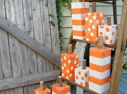 4x4 post painted pumpkins diary of a crafty lady 4x4 for Decoration 4x4