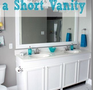 How To Raise Up A Short Vanity Raising Vanities And Builder Grade