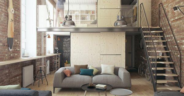 Un peque o loft de 35 metros cuadrados loft peque o - Metro cuadrado decoracion ...