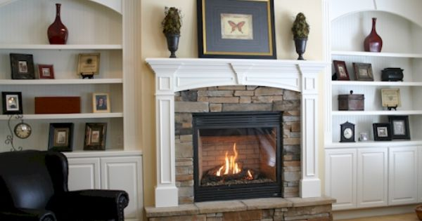 Our Fireplace & Bookshelves - Fireplaces With Bookshelves On Each Side Fireplace Mantle With