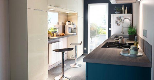 Meuble cuisine bleu id es d co appartement pinterest meuble cuisine bleu et meubles - Deco buitenkant huis idee ...