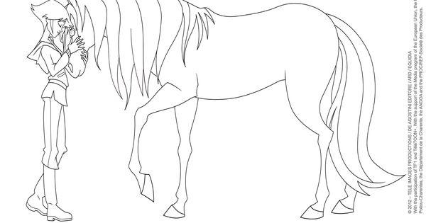 ausmalbilder pferde lenas ranch  tiffanylovesbooks