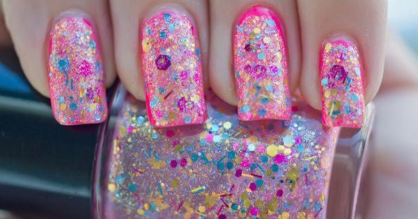 Pink Glitter Nail Polish!