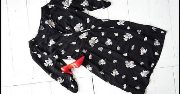 F F Czarna Sukienka W Kwiaty 38 6258579915 Oficjalne Archiwum Allegro