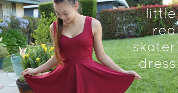 Laugh Love Live Dance: The Little Red Skater Dress-Sewing DIY An amazing
