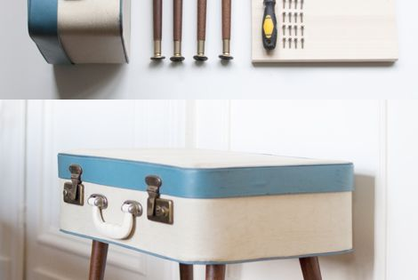 DIY: Reinvent a vintage suitcase into a retro FAB side Table