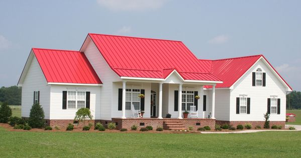 Houses With Red Roofs Metal Roofing For Residential